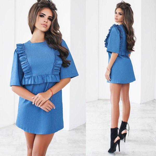 Стильное короткое платье фото
