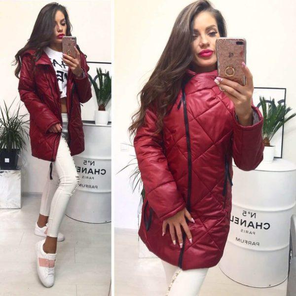 демисезонная куртка женская удлиненная
