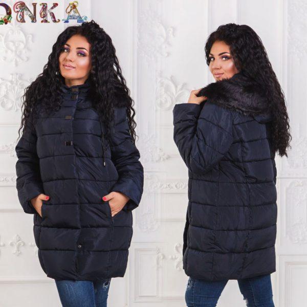 темно синяя женская куртка