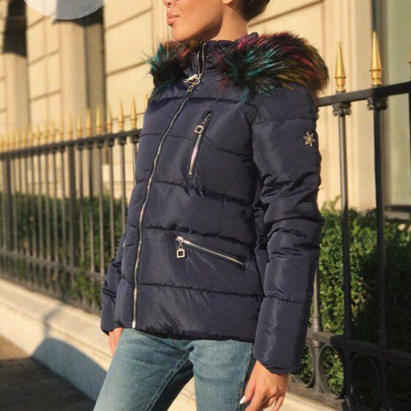 Теплая женская куртка с капюшоном Bogner