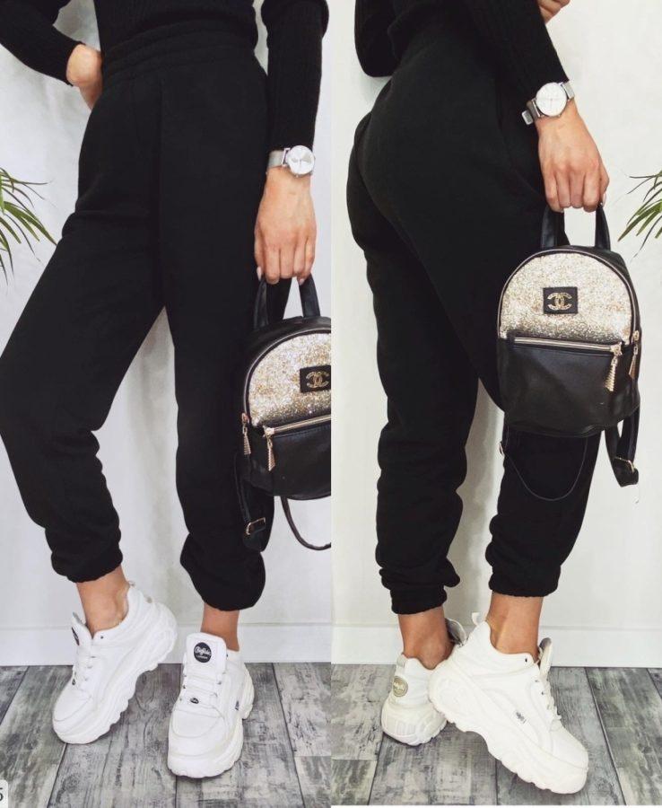 черные теплые штаны