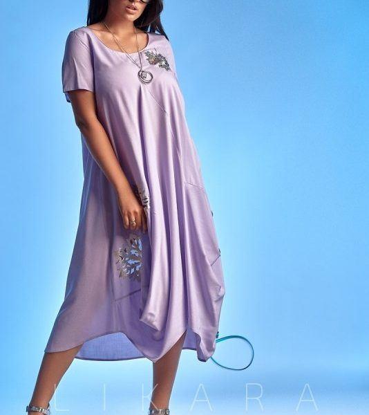 Свободное легкое платье