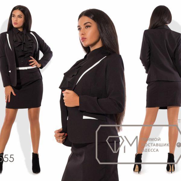 черный пиджак с юбкой