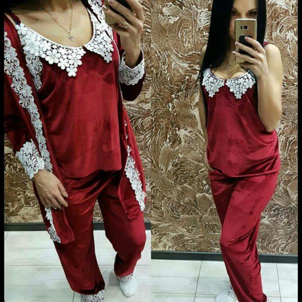 бордовая пижама