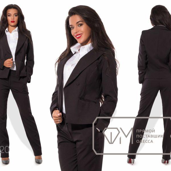 черный классический женский костюм