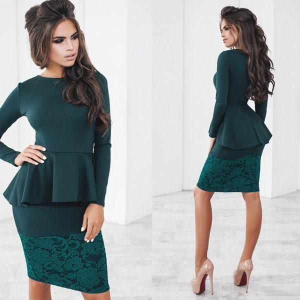 деловой платье с баской