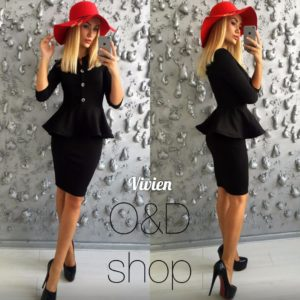 черное платье для офиса