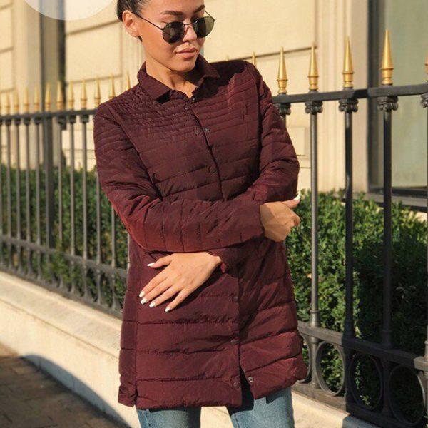 Удлиненная прямая куртка женская фото