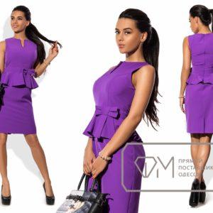 фиолетовое платье для офиса