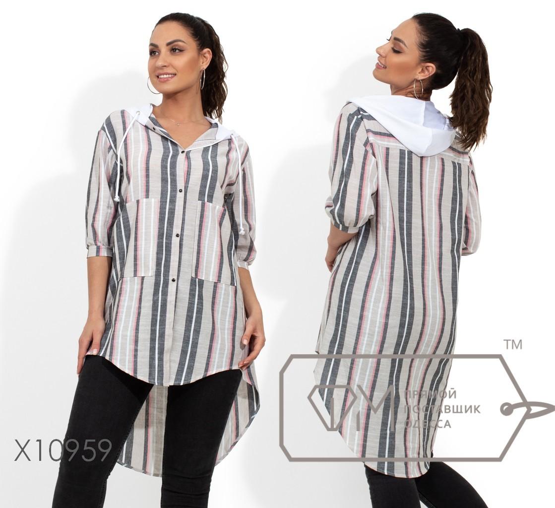 61163b8b2792 Рубашка - туника удлиненная сзади