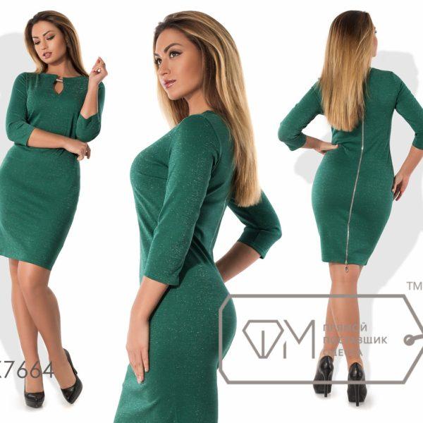 зеленое облегающее платье