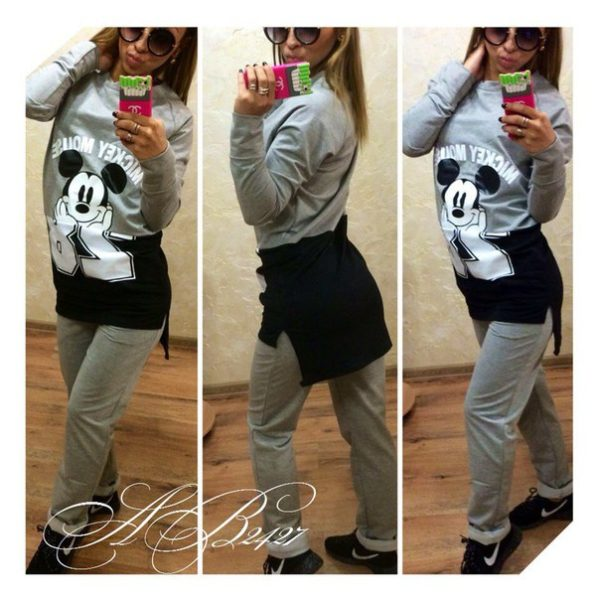 gray suit of Mickey mouse