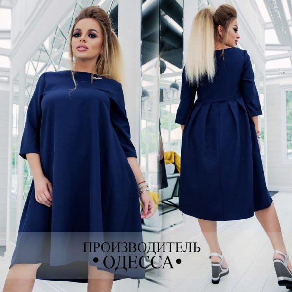 темно синее платье для полных