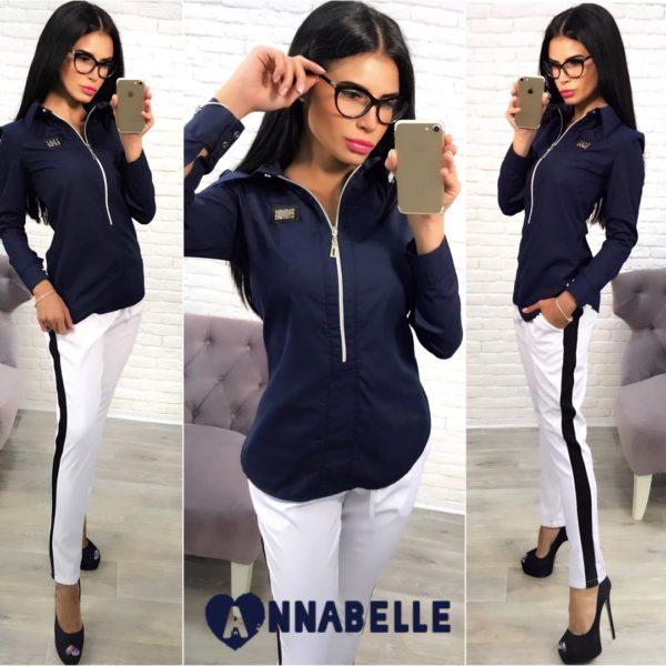 темно синяя женская рубашка