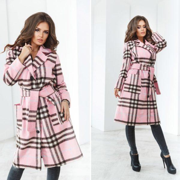 пальто халат в клетку
