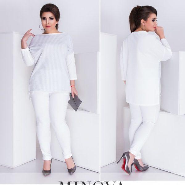 белый брючный костюм большие размеры