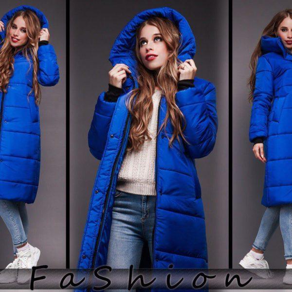 зимняя синяя куртка