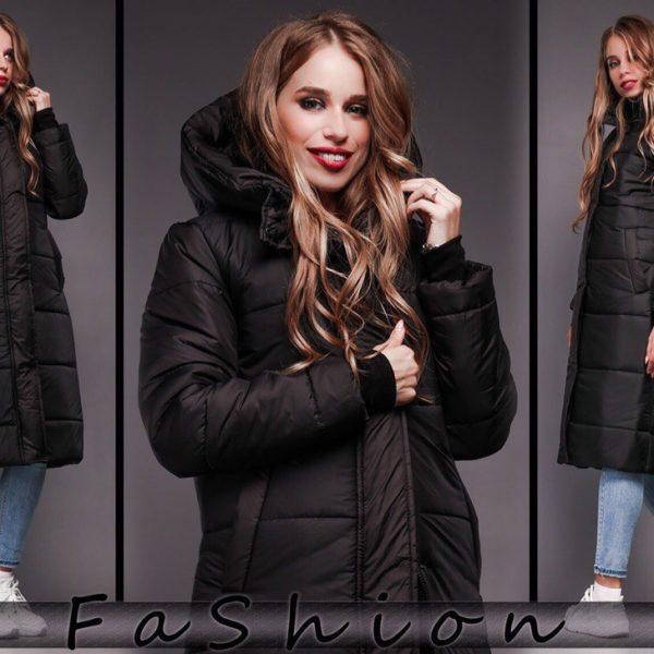 зимняя черная куртка