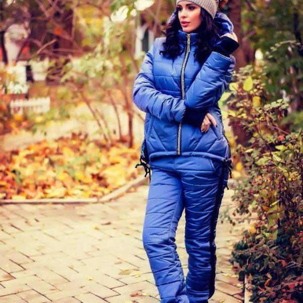стеганный зимний костюм