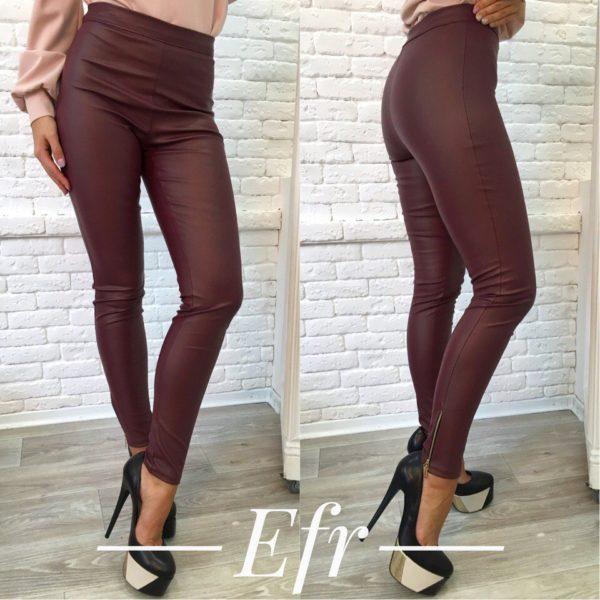 claret leather leggings