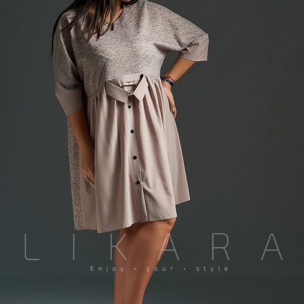 девушка в красивом свободном платье