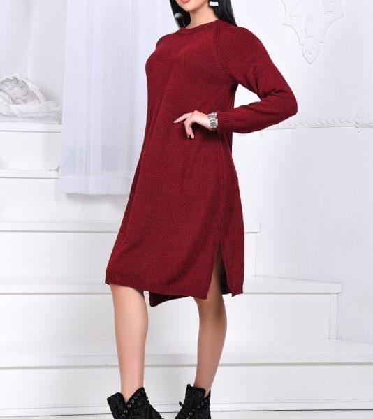 свободное вязанное платье