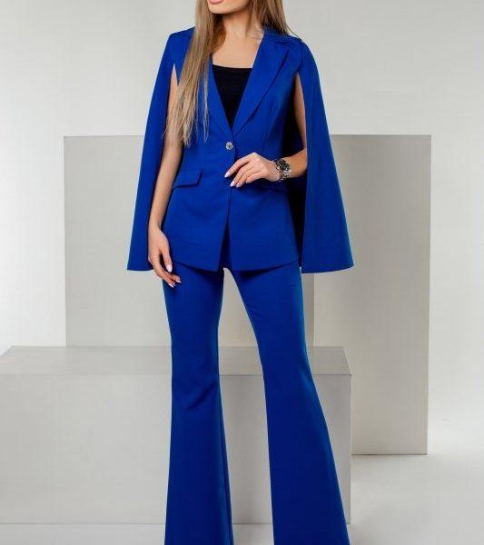 синий костюм клеш