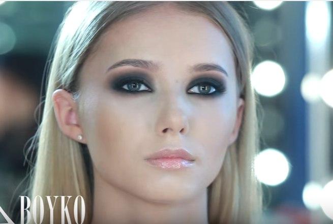 техника нанесения макияжа смоки айс