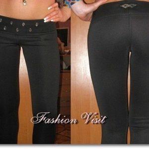 Обтягивающие черные штаны