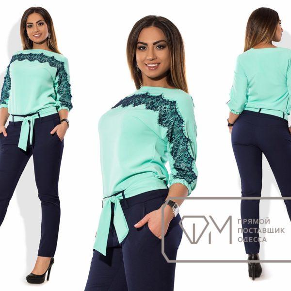 ментоловая блузка