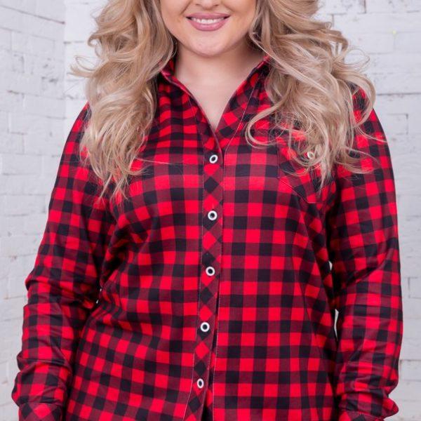 c2fcc855f2f Удлиненная рубашка в клетку купить в интернет магазине Самая МоднаЯ