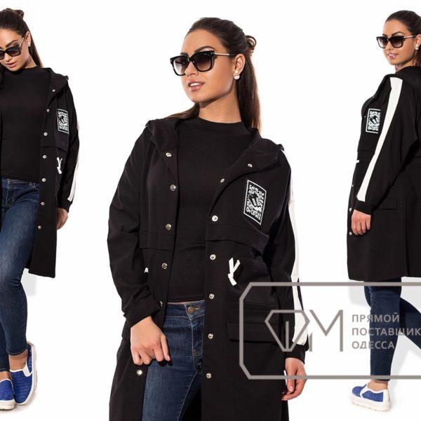 черная легкая женская куртка