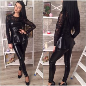 черный кожаный костюм