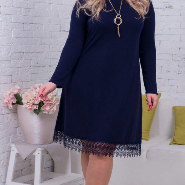 синее платье для полных