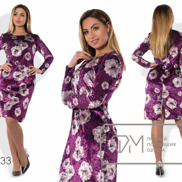 фиолетовое платье из бархата