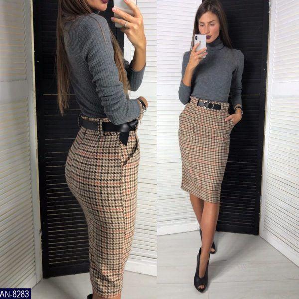 женская юбка с завышенной талией