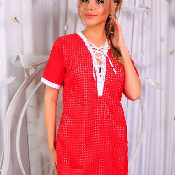 Платье короткое из органзы