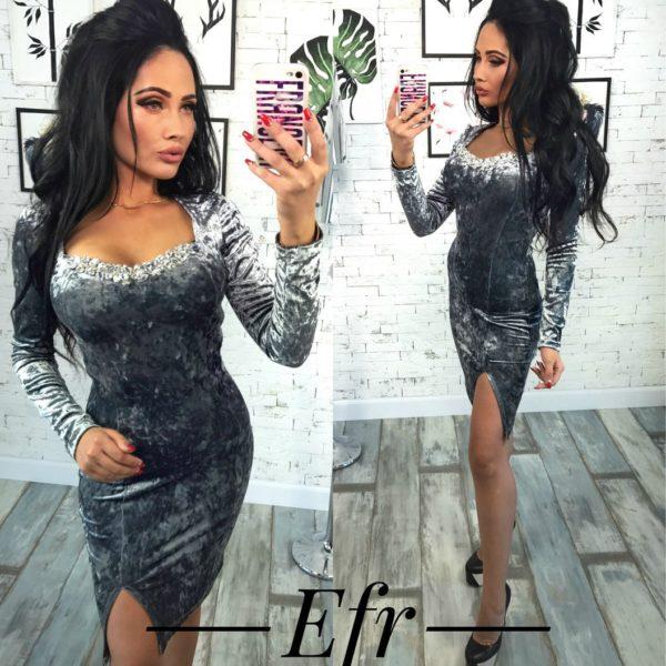 платье стального цвета