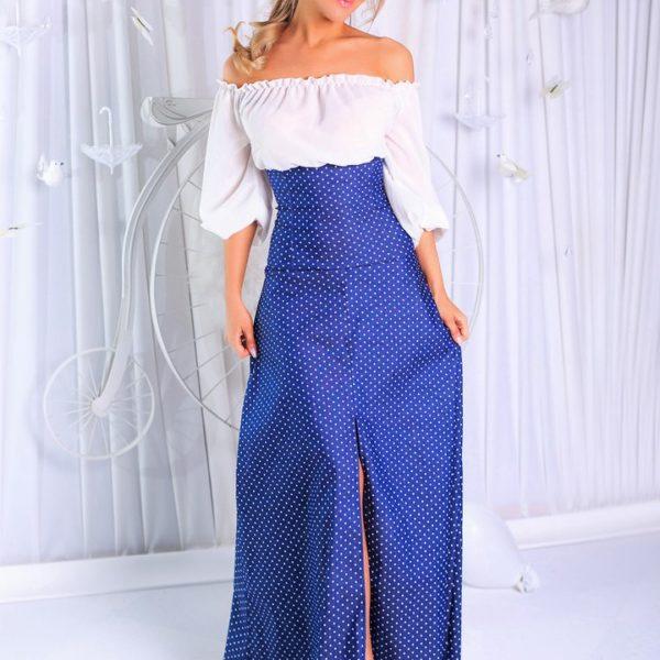 джинсовое длинное платье