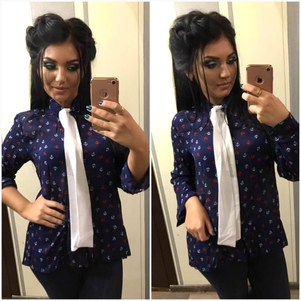 Рубашка женская с галстуком