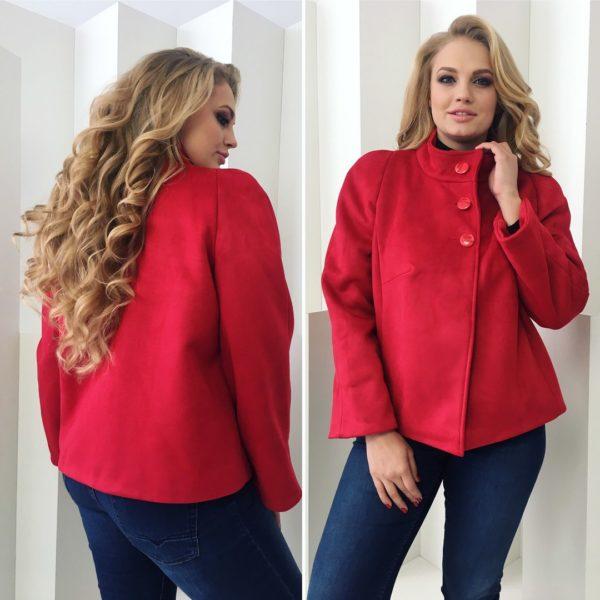 Короткое демисезонное женское пальто