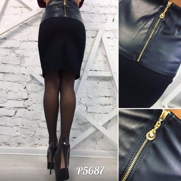 черная юбка карандаш с завышенной талией