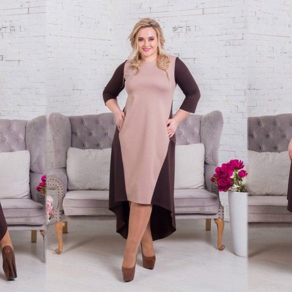 платье с удлиненным низом сзади