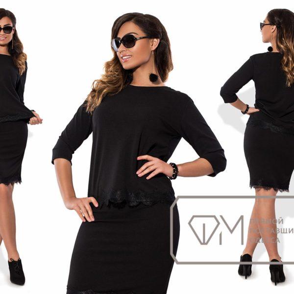 черный деловой костюм для женщин