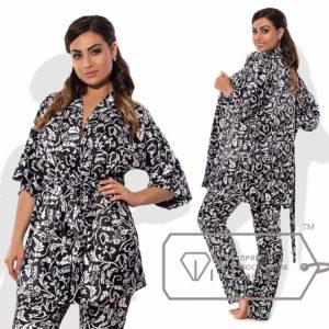 Атласная женская пижама