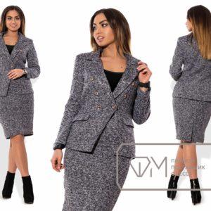 серый деловой костюм женский