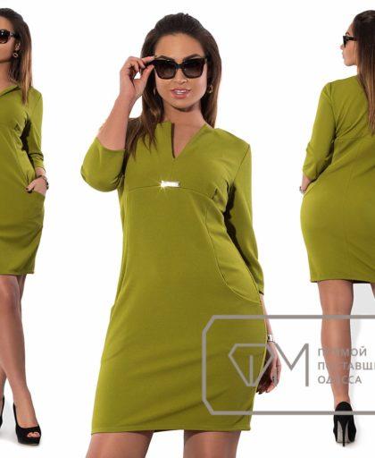 прямое строгое платье