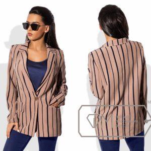 Полосатый женский пиджак