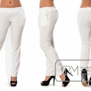 Белые модные брюки
