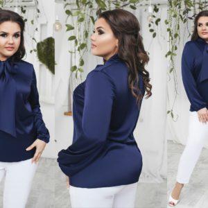 синяя женская блузка